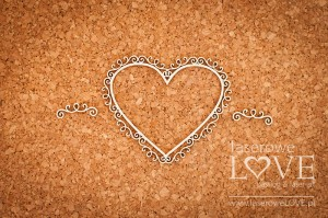 Chipboard -  Heart frame knight ornaments - Paroles
