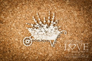 .Chipboard - Wheelbarrow with lavender - Sweet Lavender