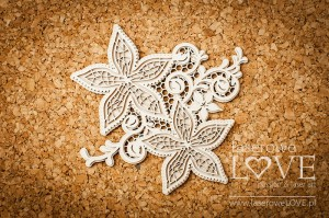 .Chipboard - Two flowers with ornament - Flower