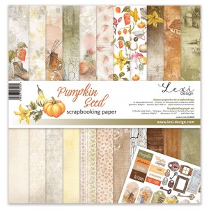 Set of papers  30x30 cm  - Pumpkin-Seed - Lexi Design