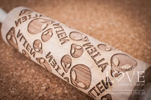 Engraved rolling pin - Aliens
