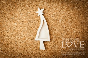 Chipboard - Christmas tree shaker box - Winter Fun