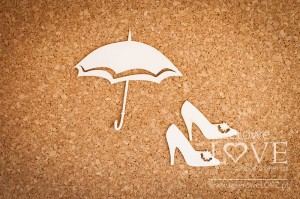 .Chipboard - Shoes and umbrella - Old Town