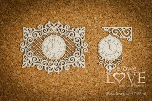 Chipboard - Watches in an ornamental frame - Vintage Trip