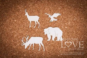 Chipboard - Forest animals - Forest Camp