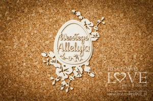 .Chipboard - Egg of Happy Alleluia orchid- Happy Easter