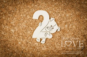 .Chipboard -  Pig with no 2 - Emma & Billy