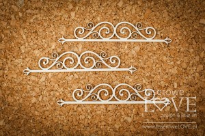 .Chipboard -  Horizontal Ornament  -  Vintage Ornaments